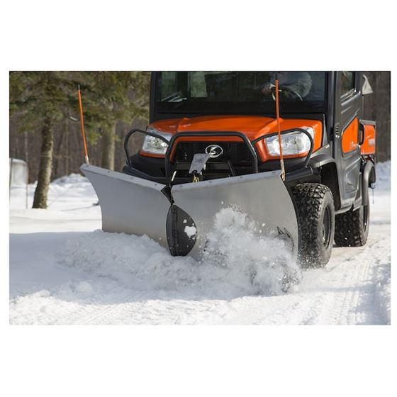"Buyers Snowdogg Stainless 65"" UTV V-Plow Snowplow2"