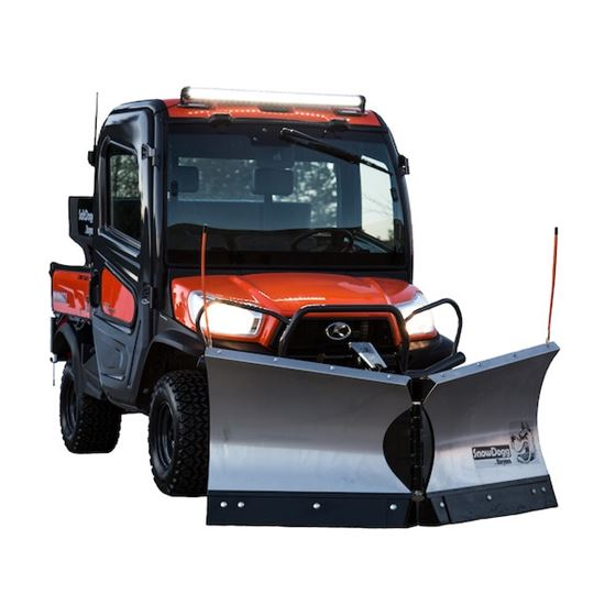 "Buyers Snowdogg Stainless 65"" UTV V-Plow Snowplow"