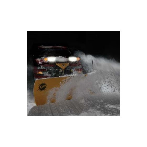 "Fisher 7.6"" HD Series Snowplow Plowing-2"