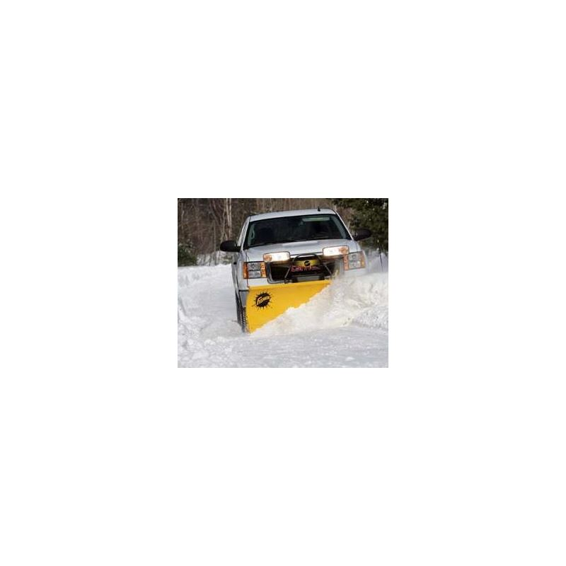 "Fisher 7.6"" HD Series Snowplow Plowing"